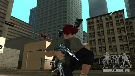 Guns Pack para GTA San Andreas por diante tela
