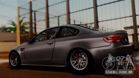 BMW M3 E92 GTS 2012 v2.0 Final para GTA San Andreas vista interior