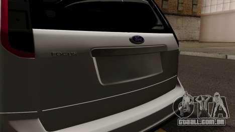 Ford Focus Wagon para GTA San Andreas vista traseira