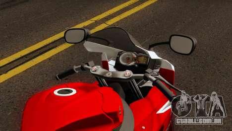 Suzuki GSX-R 2015 Red & White para GTA San Andreas vista direita