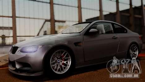 BMW M3 E92 GTS 2012 v2.0 Final para GTA San Andreas vista traseira