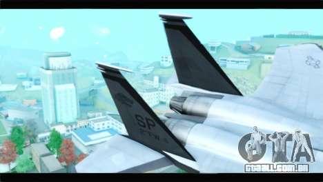 McDonnell Douglas F-15D Timberwolves Squadron para GTA San Andreas traseira esquerda vista