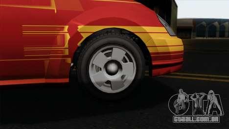 GTA 5 Karin Dilettante IVF para GTA San Andreas traseira esquerda vista