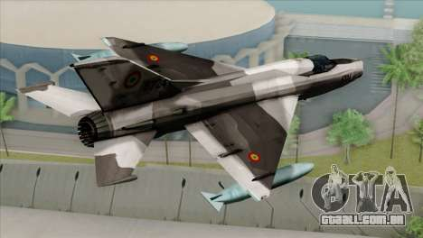 Hawker Hunter F6A para GTA San Andreas esquerda vista