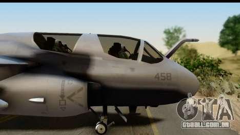 Northrop Grumman EA-6B VAQ-194 Skyshields para GTA San Andreas traseira esquerda vista