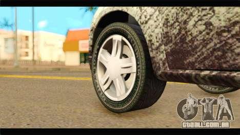 Dacia Sandero Dirty Version para GTA San Andreas traseira esquerda vista