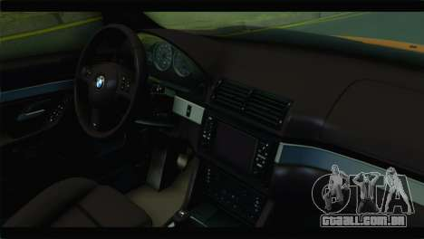 BMW M5 E39 Simply Cleaned para GTA San Andreas vista direita