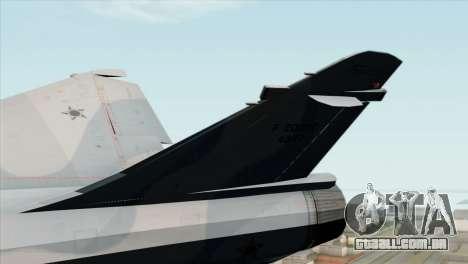 Dassault Mirage 2000 Forca Aerea Brasileira para GTA San Andreas traseira esquerda vista