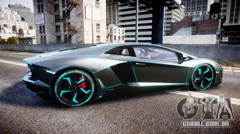 Lamborghini Aventador TRON Edition [EPM] Updated para GTA 4 esquerda vista