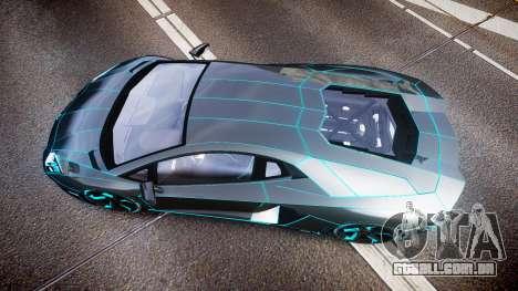 Lamborghini Aventador TRON Edition [EPM] Updated para GTA 4 vista direita