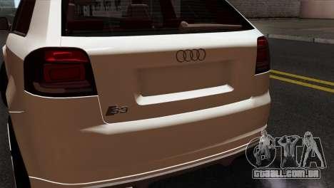 Audi S3 2011 para GTA San Andreas vista traseira