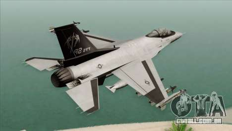 F-16C Fighting Falcon Wind Sword Squadron para GTA San Andreas esquerda vista