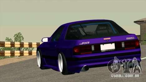 Mazda RX-7 para GTA San Andreas vista superior