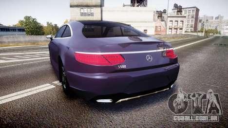 Mercedes-Benz S500 (C217) 2015 para GTA 4 traseira esquerda vista