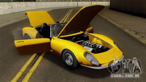 GTA 5 Grotti Stinger v2 para GTA San Andreas vista traseira