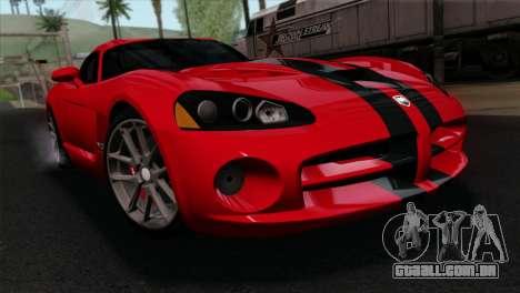 Dodge Viper SRT10 v1 para GTA San Andreas