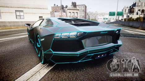 Lamborghini Aventador TRON Edition [EPM] Updated para GTA 4 traseira esquerda vista