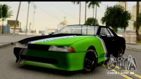 Elegy NASCAR PJ 2 para GTA San Andreas vista traseira