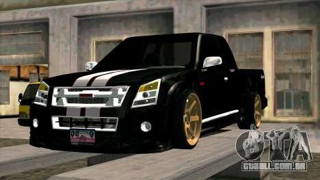 Isuzu D-Max X-Series para GTA San Andreas vista interior