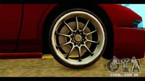 Infernus Rapide S Stock para GTA San Andreas traseira esquerda vista