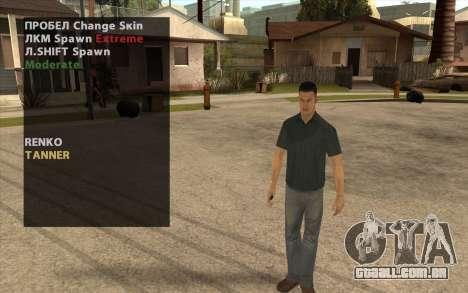 John Tanner DRIV3R para GTA San Andreas segunda tela