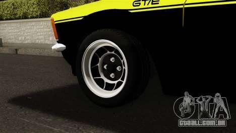 Opel Kadett E GTE 1900 Italian Rally para GTA San Andreas traseira esquerda vista