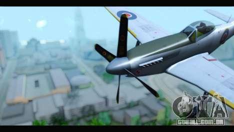P-51 Mustang Mk4 para GTA San Andreas vista direita