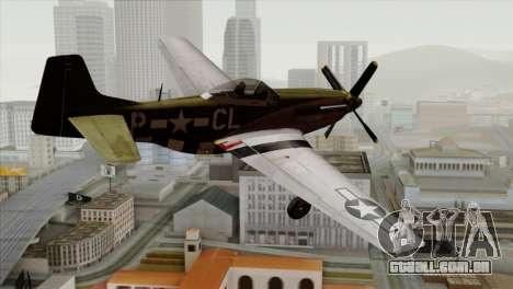 P-51D Mustang Da Quake para GTA San Andreas esquerda vista