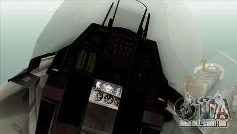 F-16C Fighting Falcon Wind Sword Squadron para GTA San Andreas vista traseira