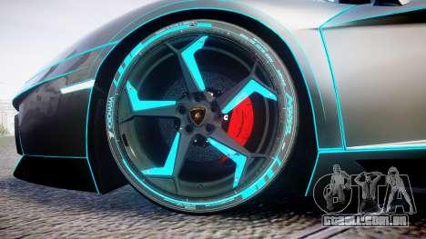 Lamborghini Aventador TRON Edition [EPM] Updated para GTA 4 vista de volta