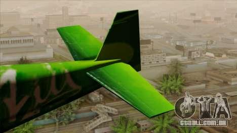 GTA 5 Stuntplane Spunck para GTA San Andreas traseira esquerda vista