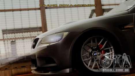 BMW M3 E92 GTS 2012 v2.0 Final para GTA San Andreas vista inferior