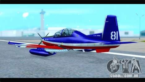 Beechcraft T-6 Texan II Red para GTA San Andreas esquerda vista