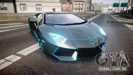 Lamborghini Aventador TRON Edition [EPM] Updated para GTA 4
