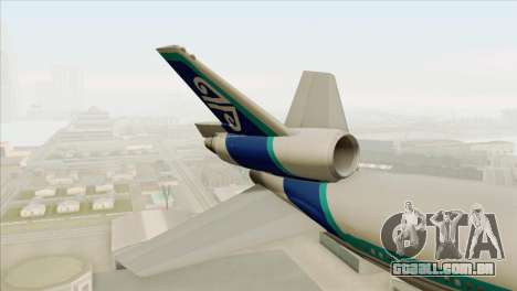 DC-10-30 Air New Zealand para GTA San Andreas traseira esquerda vista