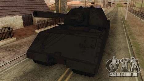 Panzerkampfwagen VIII Maus para GTA San Andreas vista traseira