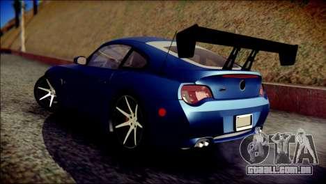 BMW Z4M Coupe 2008 para GTA San Andreas esquerda vista
