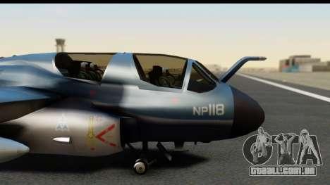 Northrop Grumman EA-6B ISAF para GTA San Andreas vista traseira