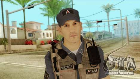 COD Advanced Warfare Jon Bernthal Security Guard para GTA San Andreas terceira tela