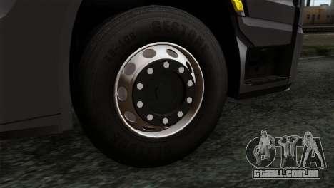 Mercedes-Benz Actros MP4 Euro 6 IVF para GTA San Andreas traseira esquerda vista