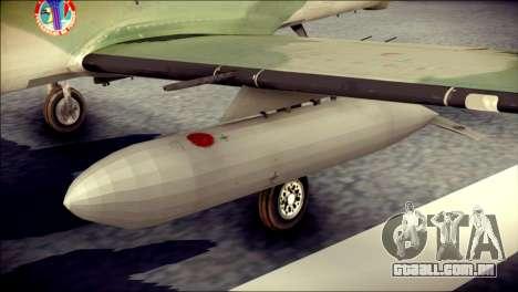 Embraer EMB-314 Super Tucano E para GTA San Andreas vista direita