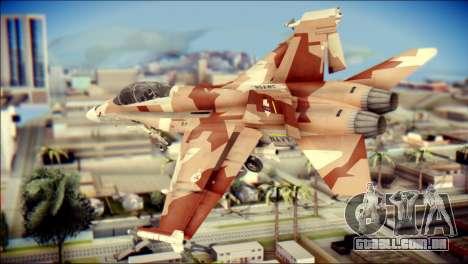 F-18D NSAWC para GTA San Andreas esquerda vista