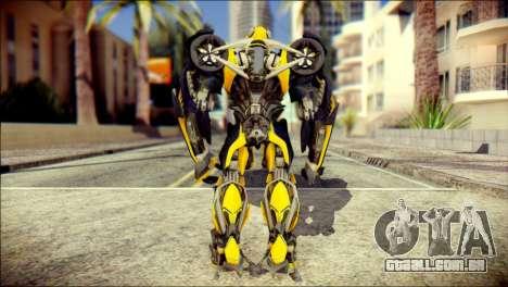 Bumblebee Skin from Transformers para GTA San Andreas segunda tela
