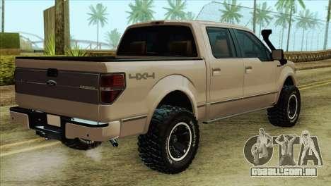 Ford F-150 Platinum 2013 4X4 Offroad para GTA San Andreas esquerda vista