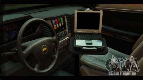 Chevrolet Suburban 2015 SANG para GTA San Andreas vista direita