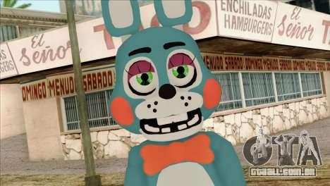 Toy Bonnie from Five Nights at Freddy 2 para GTA San Andreas terceira tela
