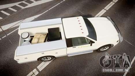 GTA V Vapid Utility Truck para GTA 4 vista direita