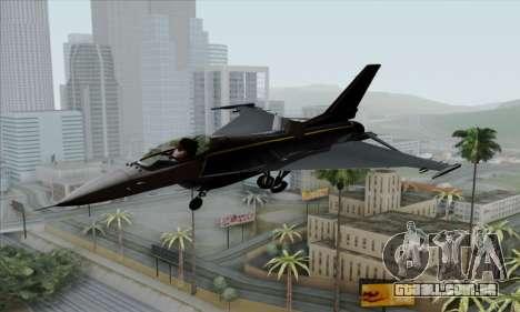 F-16XL para GTA San Andreas vista traseira