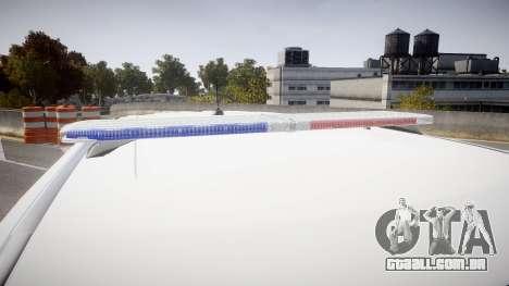 Ford Explorer 2011 Elizabeth Police [ELS] para GTA 4 vista de volta