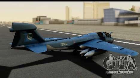 Northrop Grumman EA-6B ISAF para GTA San Andreas traseira esquerda vista